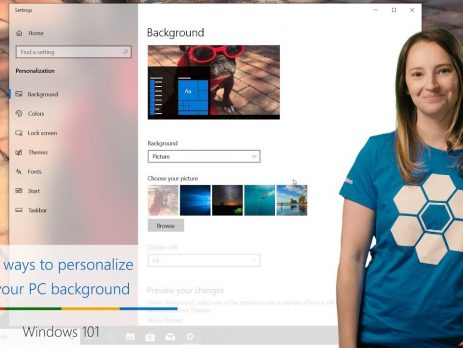 Three ways to personalize your PC background